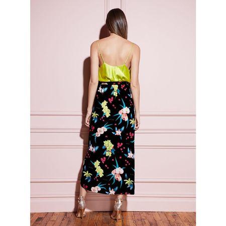 Fleur Du Mal Wrap Skirt - Black Orchid Floral