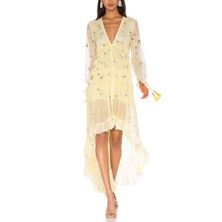 Rococo Sand Star Light Dress - Lemon