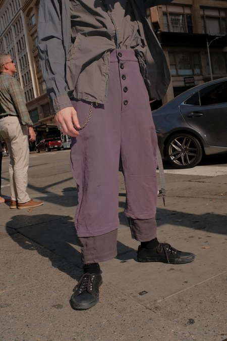 By Walid Antique Linen 'Michael' Trouser