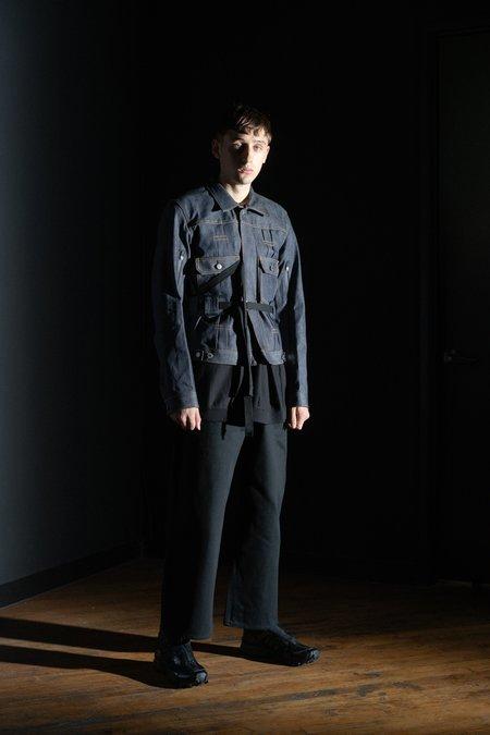 TAKAHIROMIYASHITA The Soloist. Body Harness Trucker Jacket - Indigo Denim
