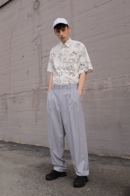 Marni Darted Tropical Wool Baseball Pants