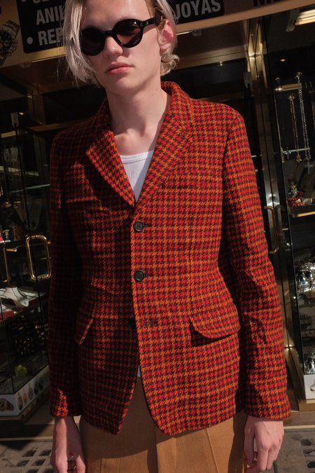 Marni Fitted Washed Houndstooth Blazer