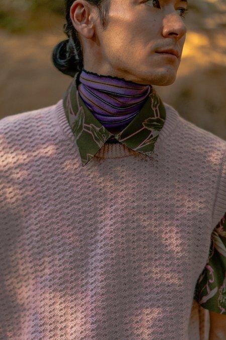 Lanvin Striped Knit Collar - Light Purple