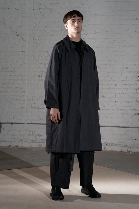 Komakino Oversized Unlined Gaberdine Overcoat - Grey