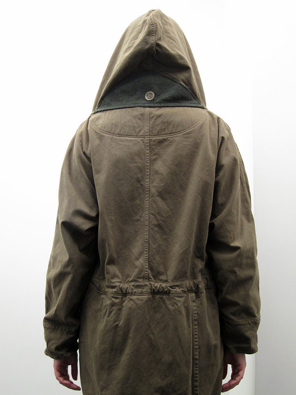 Unisex Kapital Katsuragi Tall Ring Coat, Khaki