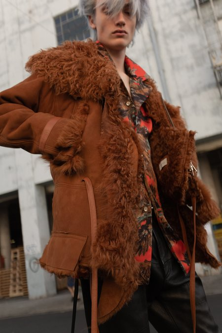 Bed J.W. Ford Shearling Leather Beast Jacket