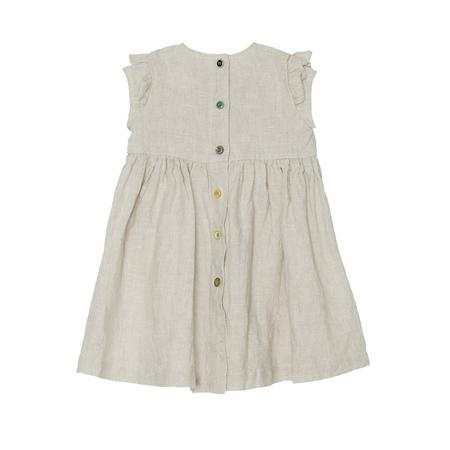 KIDS Yellow Pelota Ruffle Sleeve Dress - Natural