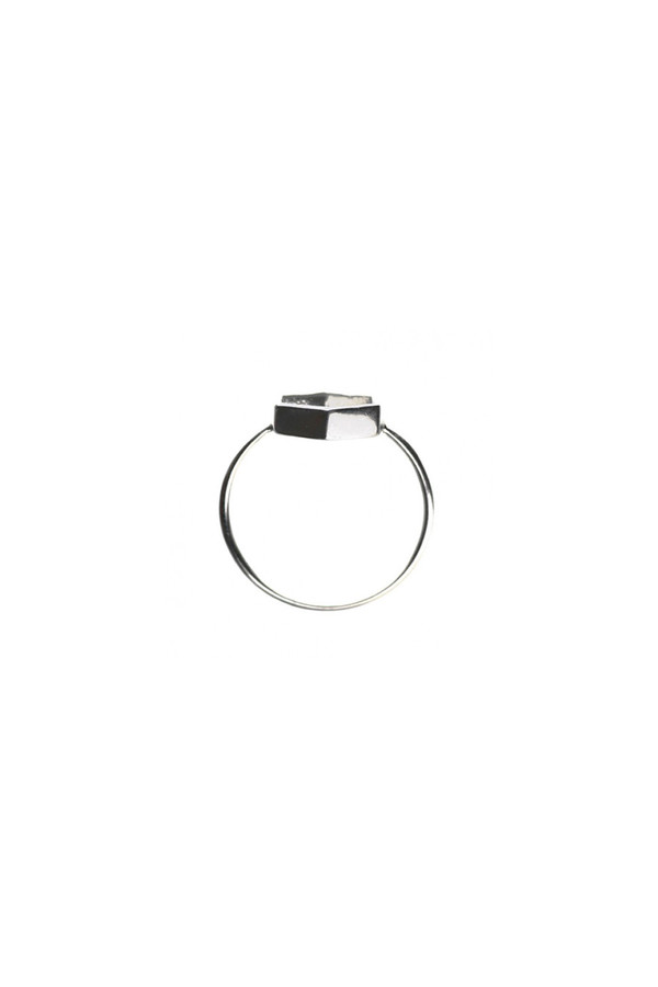 Hexagon Ring Sterling Silver