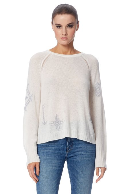 360 Cashmere Lincoln Sweater - Chalk Heather Grey