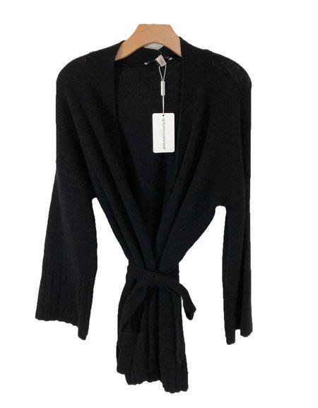 Autumn Cashmere Kimono Wrap - Black