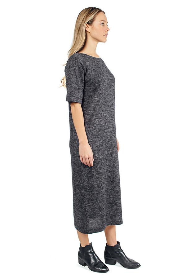 Lauren Manoogian Tall T Dress Charcoal Flax