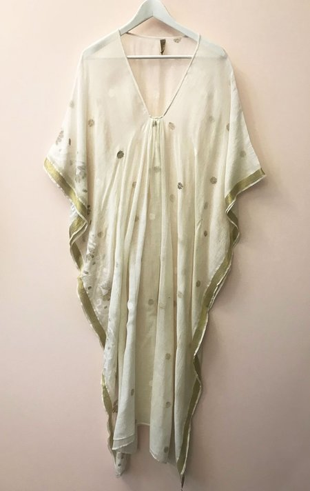 Two Caftan - White/Gold