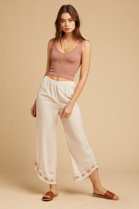 Amuse Society Tequila Sunrise Pant - WHITE