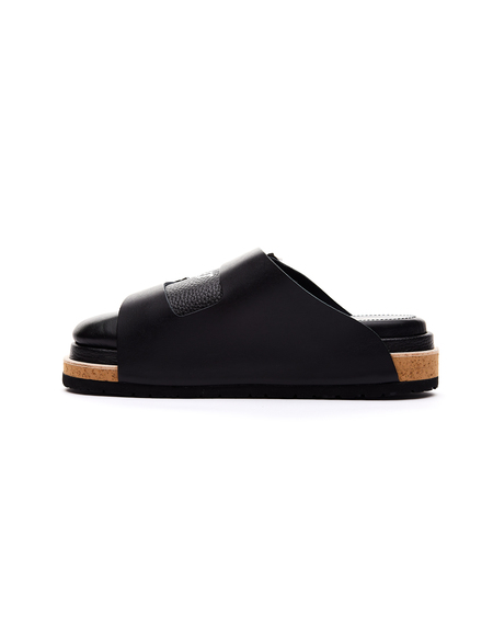 Doublet Layered Leather Sandals - Black