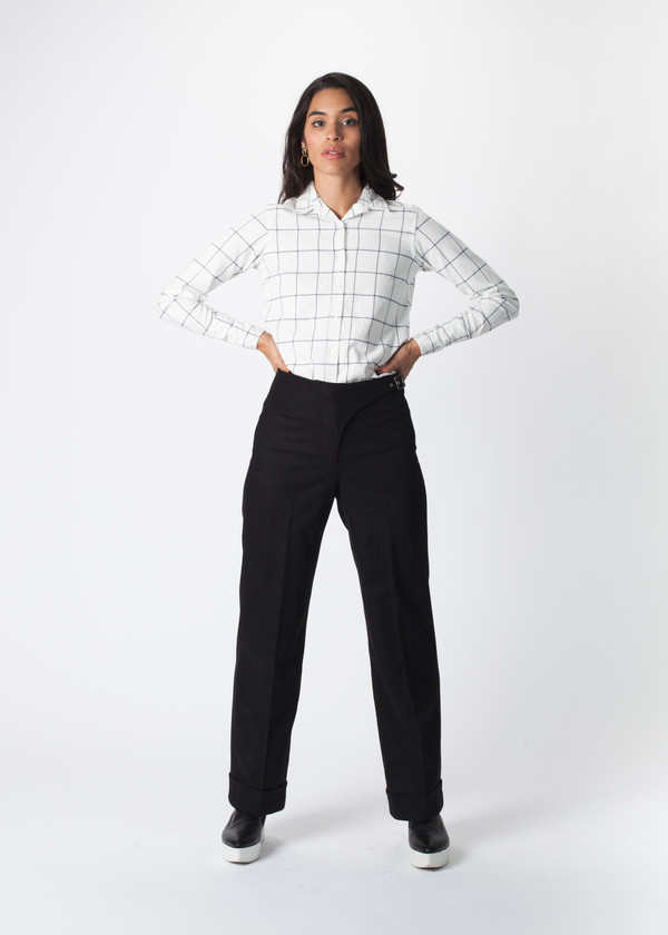 You Must Create Buckle Wool Trouser