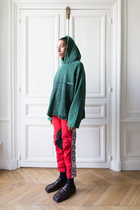 Martine Rose Acid Wash Hoodie - green