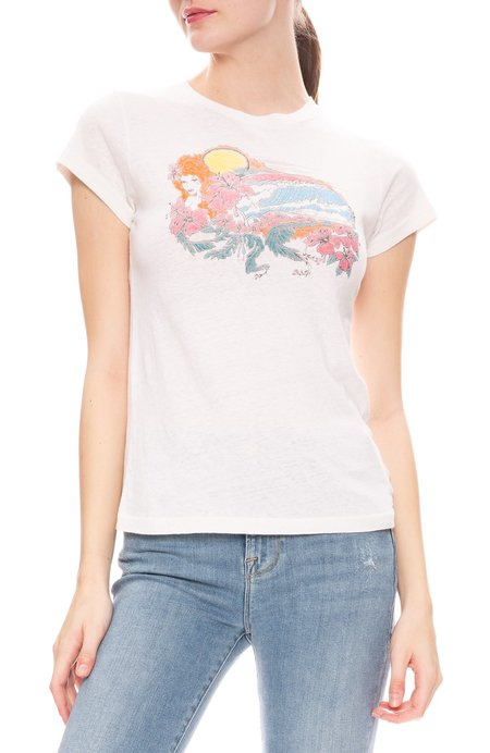Re/Done Psychedelic Surf Tee - Vintage White