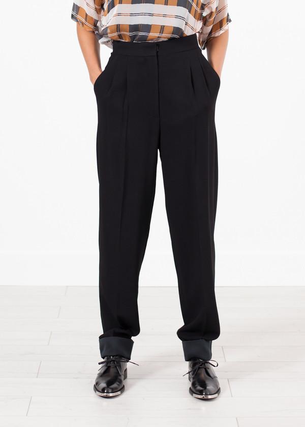 Ter et Bantine Contrast Cuff Pant in Black