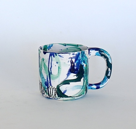 BTW Ceramics Wacky Blue Mugs