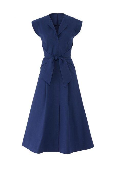 SEA Lennox Tie Front Midi Dress - Blue