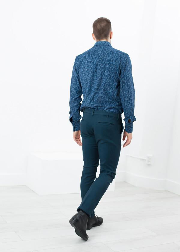 Men's Pence Diamond Weave Trouser in Sky