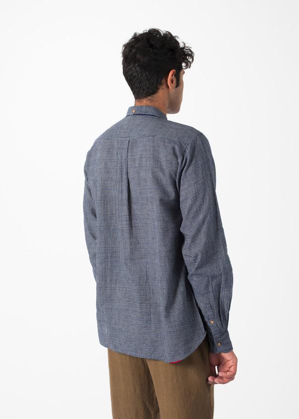 Men's Pero Fine Check Bib Shirt