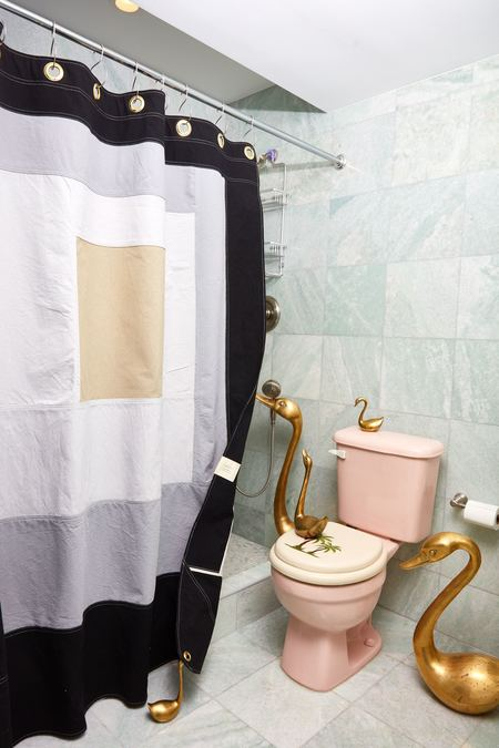 quiet town Marfa Shower Curtain