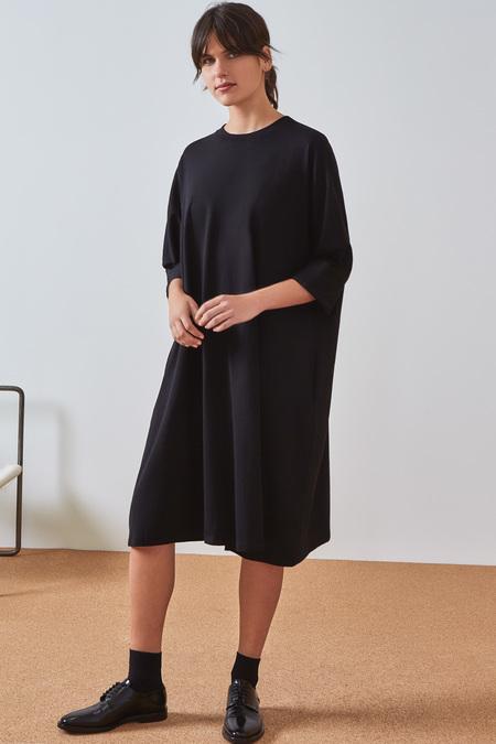 Kowtow Building Block Oversized Boxy Dress in Black