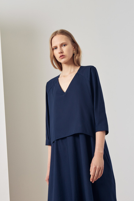 Kowtow Collette Dress in Navy