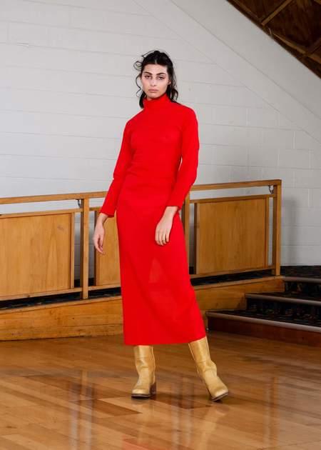 Penny Sage Delta dress - scarlet