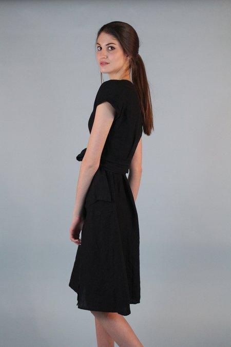 Studio 412 Wrap Dress - BLACK