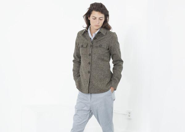 Harvey Faircloth Herringbone Shirt Jacket