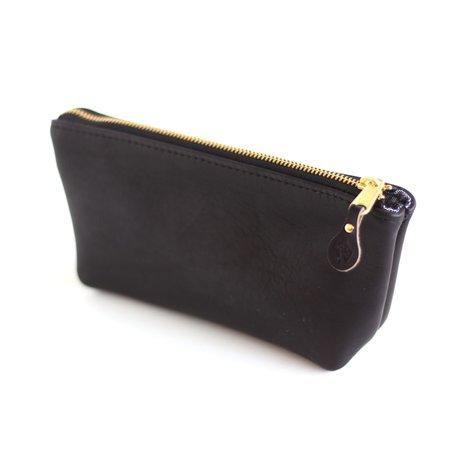 Foxtrot Supply Co. Large Leather Zip Kit - Black