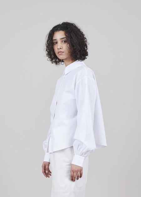 GRAMMAR NYC The Split Infinitive Shirt - White