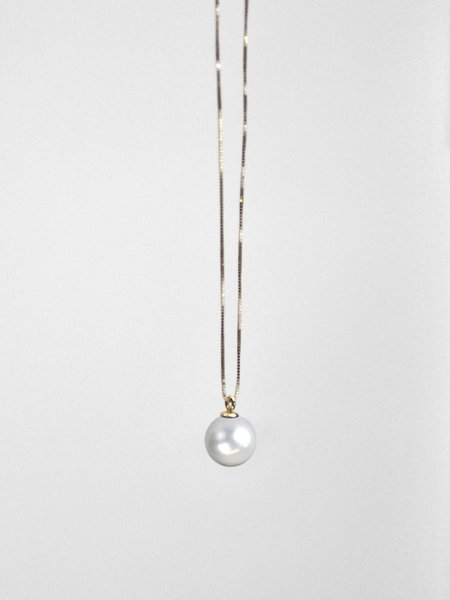 IGWT Pippa Pearl Necklace - Yellow Gold/White Pearl