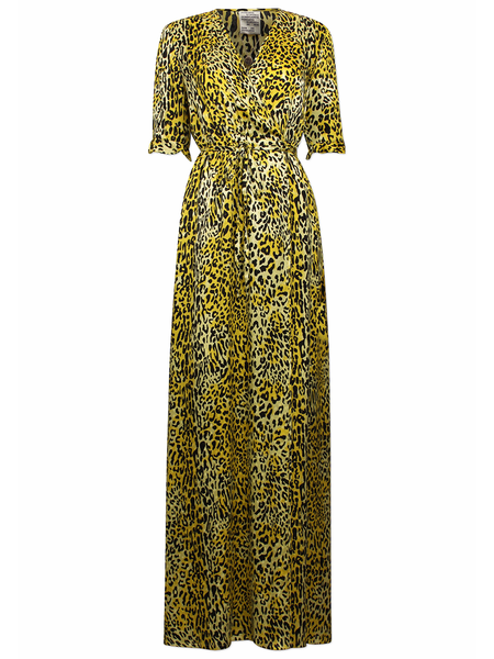 Baum und Pferdgarten Adelita Vneck Wrap Maxi Dress - Lemon Leo