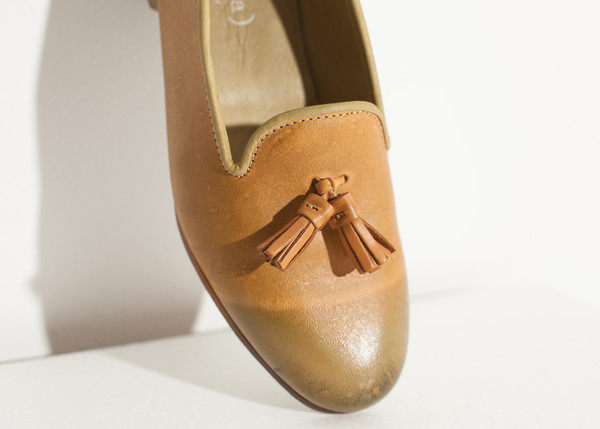 Verba Leather Loafer in Lime