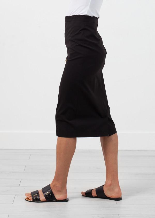 Ter et Bantine Long Pencil Skirt in Black