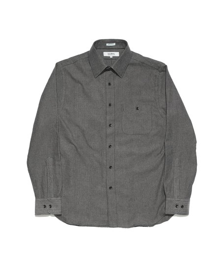 Freemans Sporting Club Point Collar Shirt - Charcoal Herringbone