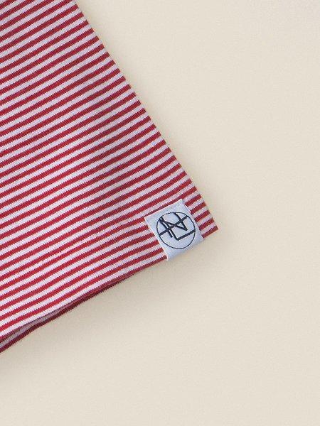 Nanamica Stripe Tee - Red/White