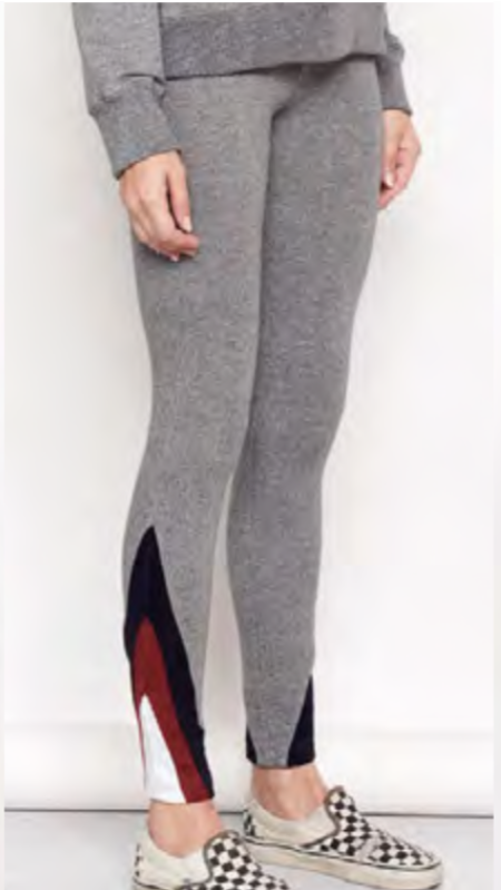 Sundry Color Inset Yoga Pant - HEATHER GREY
