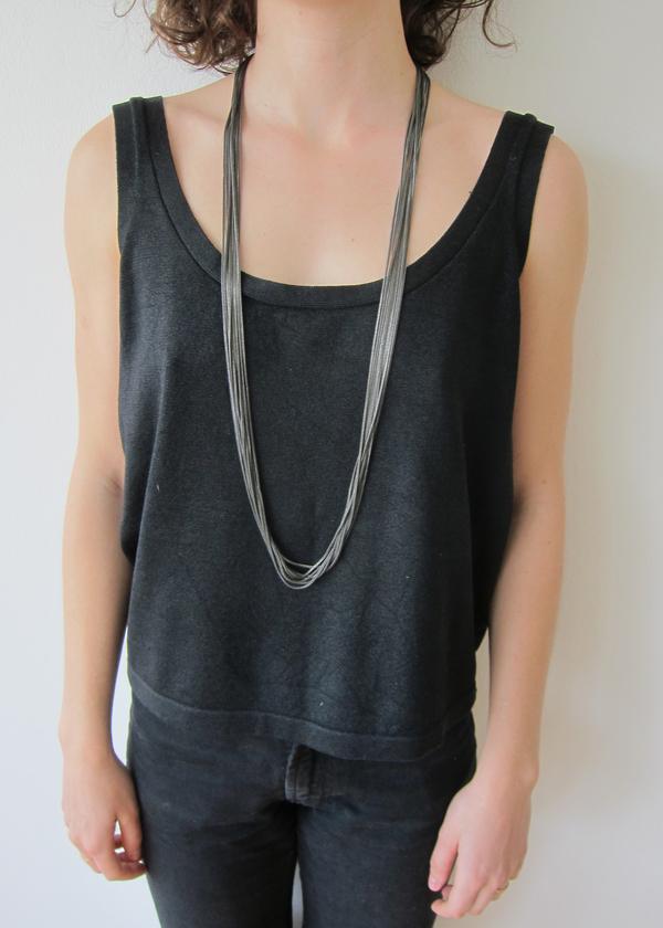Black Tone Multi-Chain Necklace
