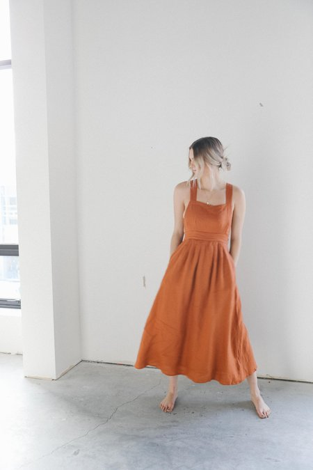 All That Remains Ophelia Pinafore Dress - Ochre