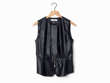 Cedric Charlier Pleather Vest - Black