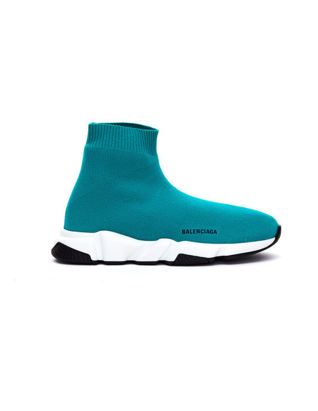Kids Balenciaga Speed Trainer Sneakers - Green