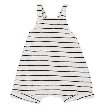 KIDS 1+ In The Family Geri Terrycloth Overalls - White With Black Stripes