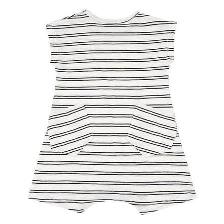 KIDS 1+ In The Family Baby Markus Romper - Off-White/Black Stripes
