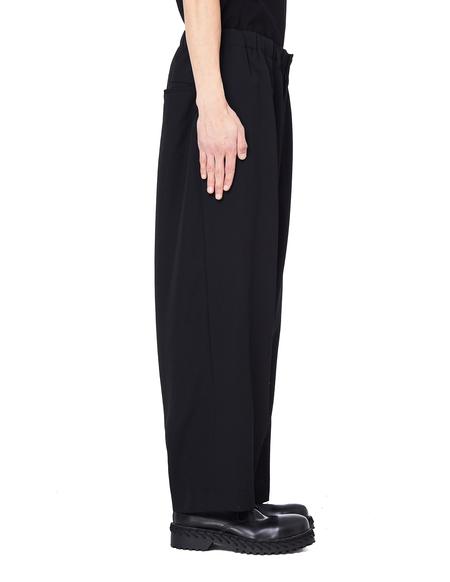 Yohji Yamamoto Wool Cropped Pants - Black