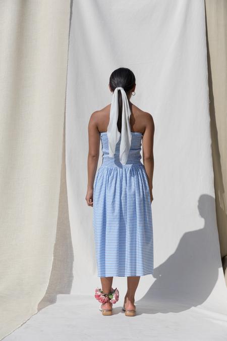 Pari Desai Pondicherry Skirt/Dress in Azure Stripe