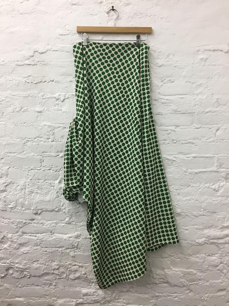 A Détacher Dalton Dress in Green Multi Polkadot Print